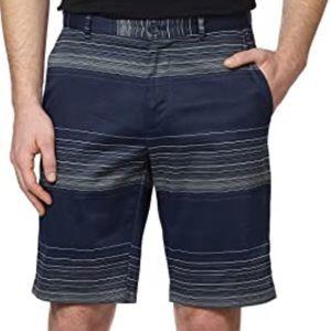 Calvin Klein Stripe Cotton Chino Straight Shorts